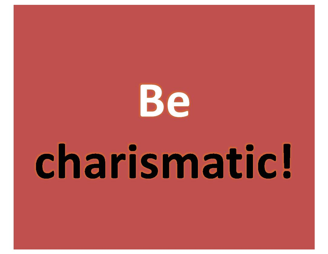 carismatic