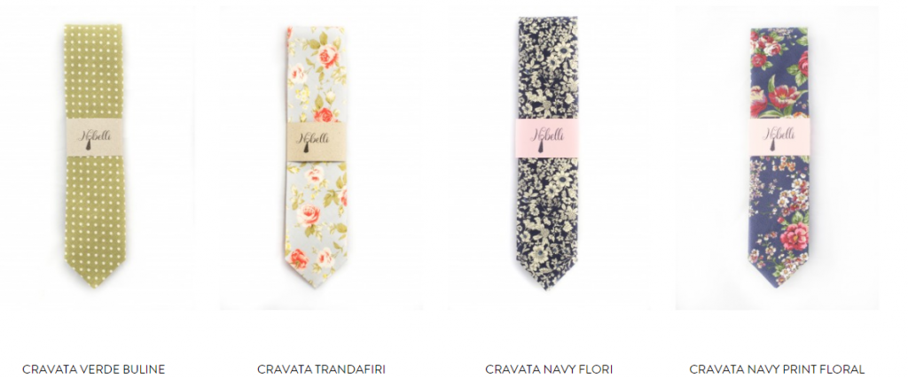 Cravate colorate pentru barbati