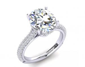 Inel de logodna cu aur alb